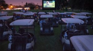 (CF) Golf Cart Drive In @ Connor Field